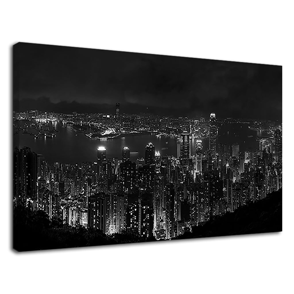 Hong Kong Black And White Cityscape Skyscrapers