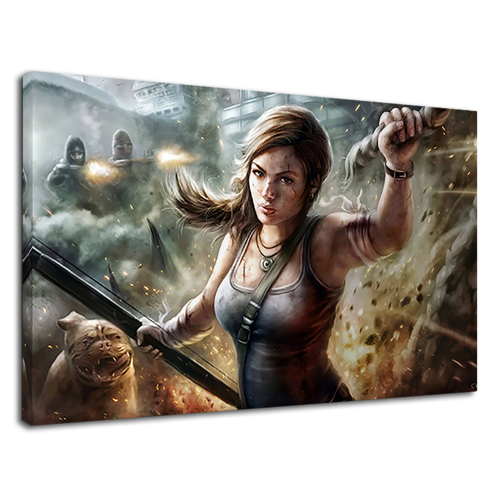 Lara Croft Gamer Gaming Fan Tomb Raider Painting
