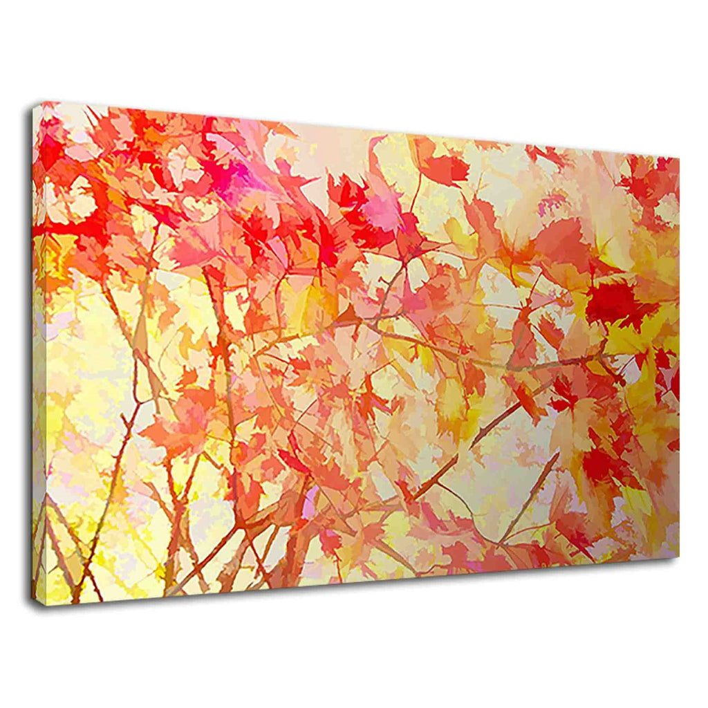 Abstract Maple Trees In Autumn Digital Artwork