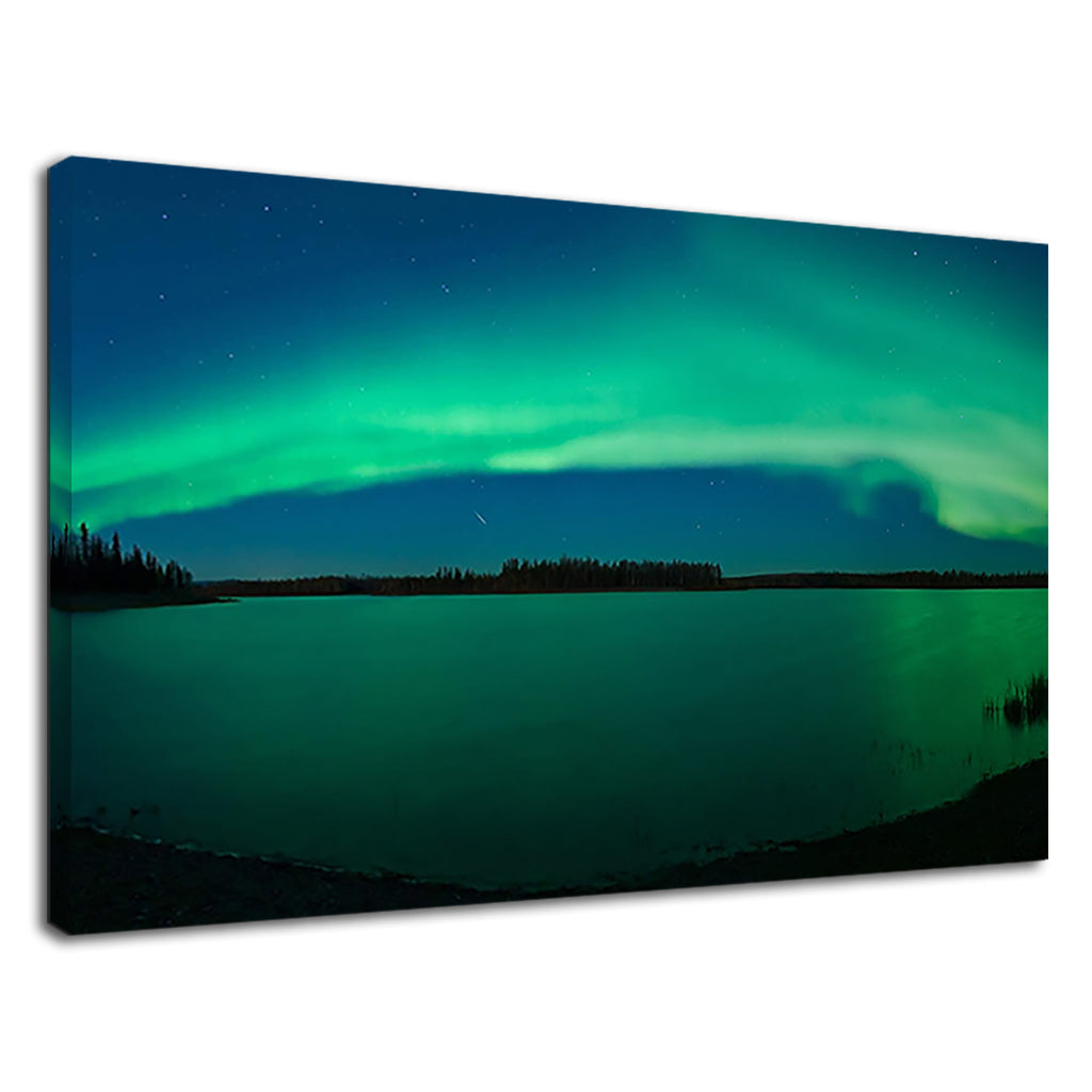 Beautiful Aurora & Frozen Lake For Living Room