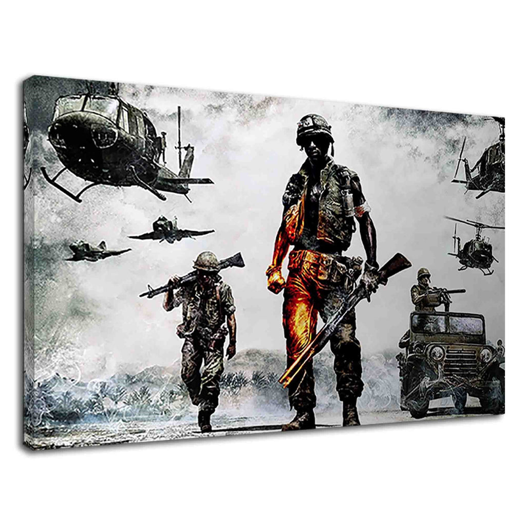 Soldiers & Aircrafts Battlefield 2 Digital Artwork