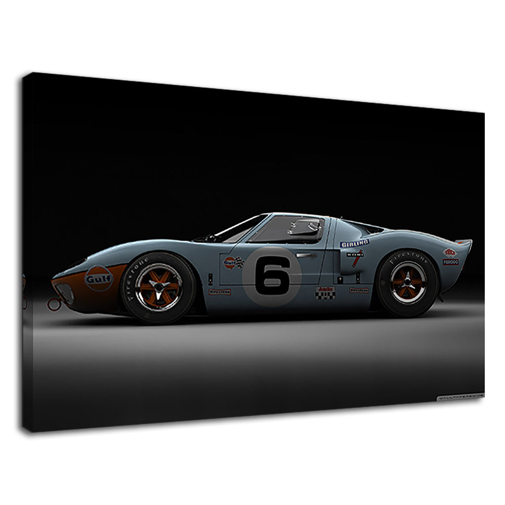 Classic Baby Blue Vintage Sports Racing Car