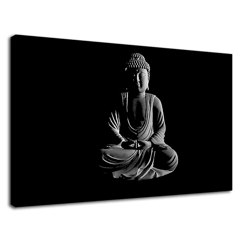 Meditating Buddha Statue Digital Illustration