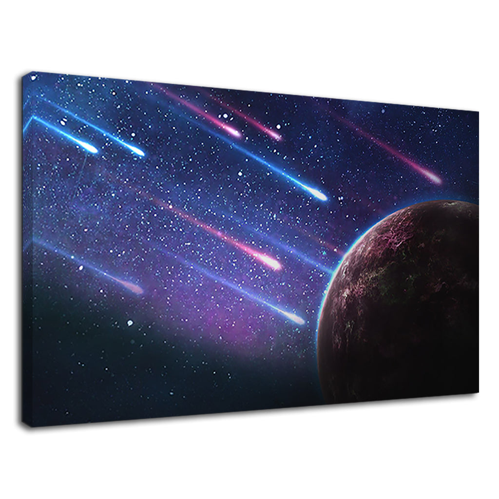 Colorful Shooting Stars And Earth For Living Room