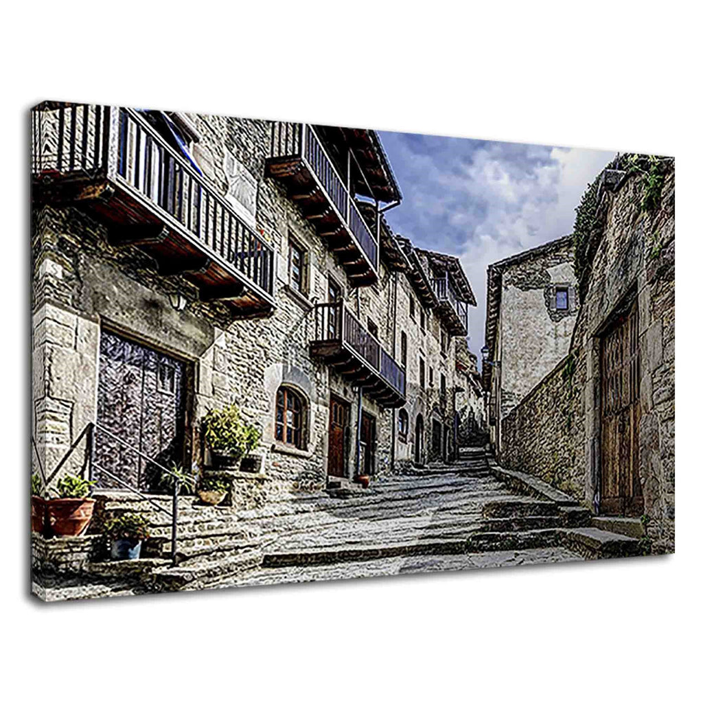 Rupit Catalonia Street & Stone City Buildings