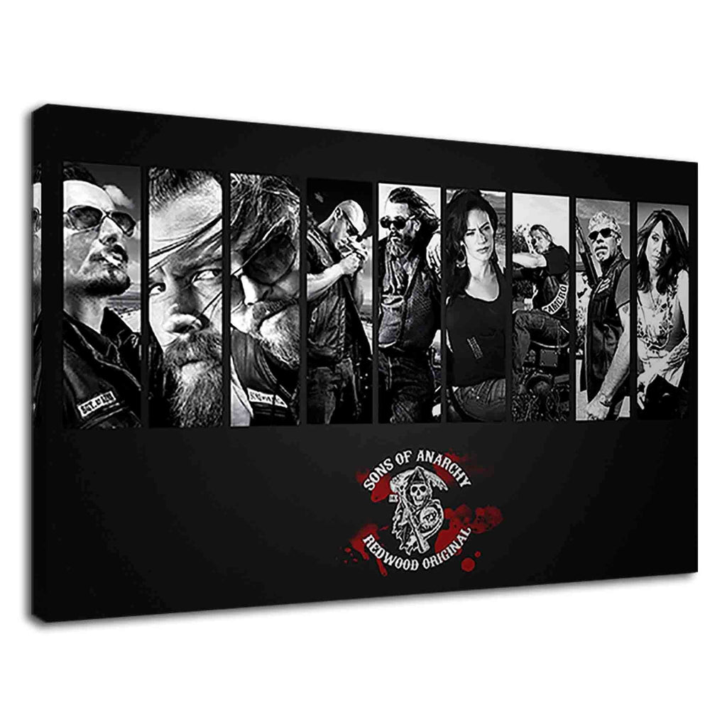 Sons Of Anarchy Digital Illustration Black & White