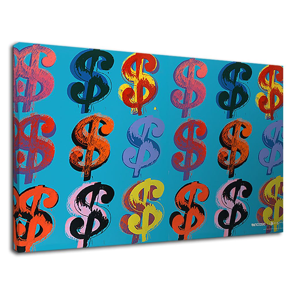 Dollar Sign On Blue Pop Art For Bathroom