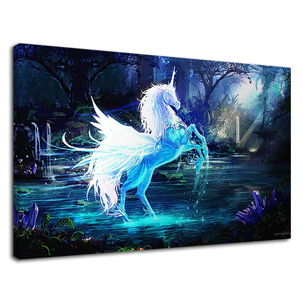 Stunning Water Ice Unicorn Fantasy Frozen 2