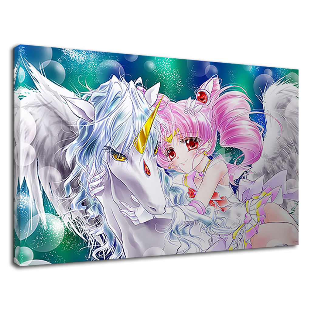 Anime Manga Unicorn Cute Girls Bedroom Art