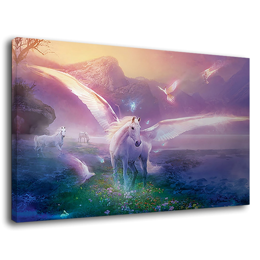 Fantasy Unicorn  World Cute Girls Bedroom Art