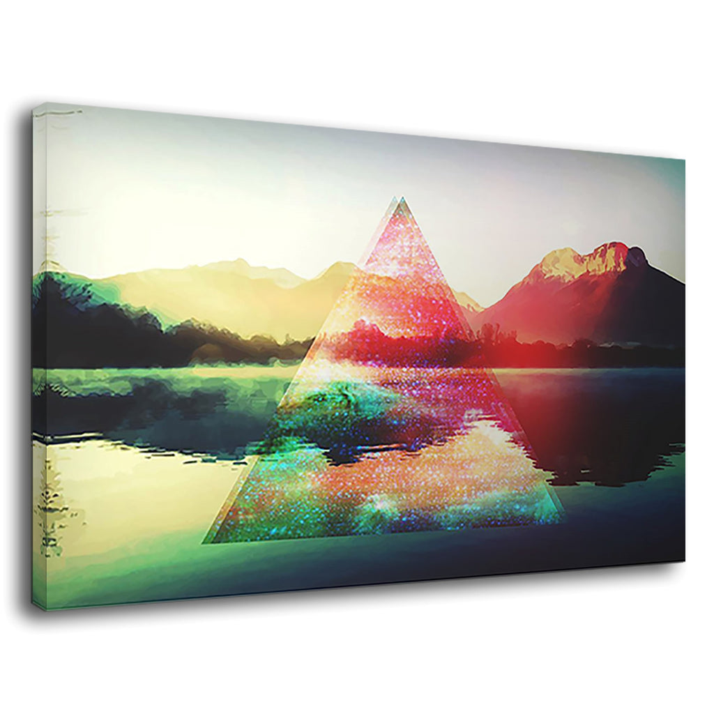 Hipster Triangle Psychodelic Abstract Mountain