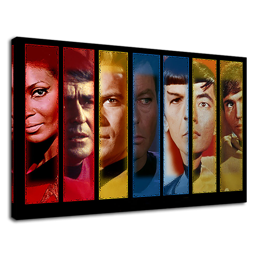 Star Trek Characters Collage For Drawing Room