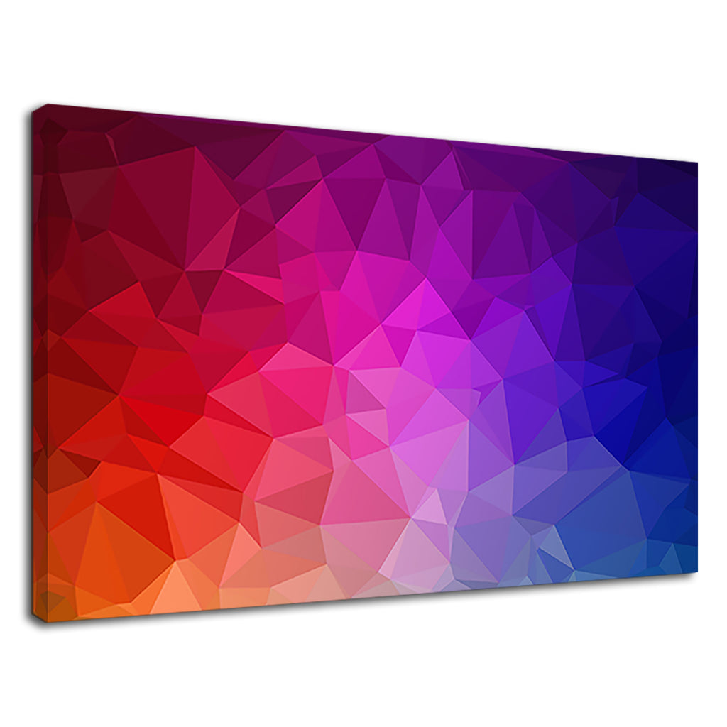 Colorful Triangles Asymmetric Digital Artwork