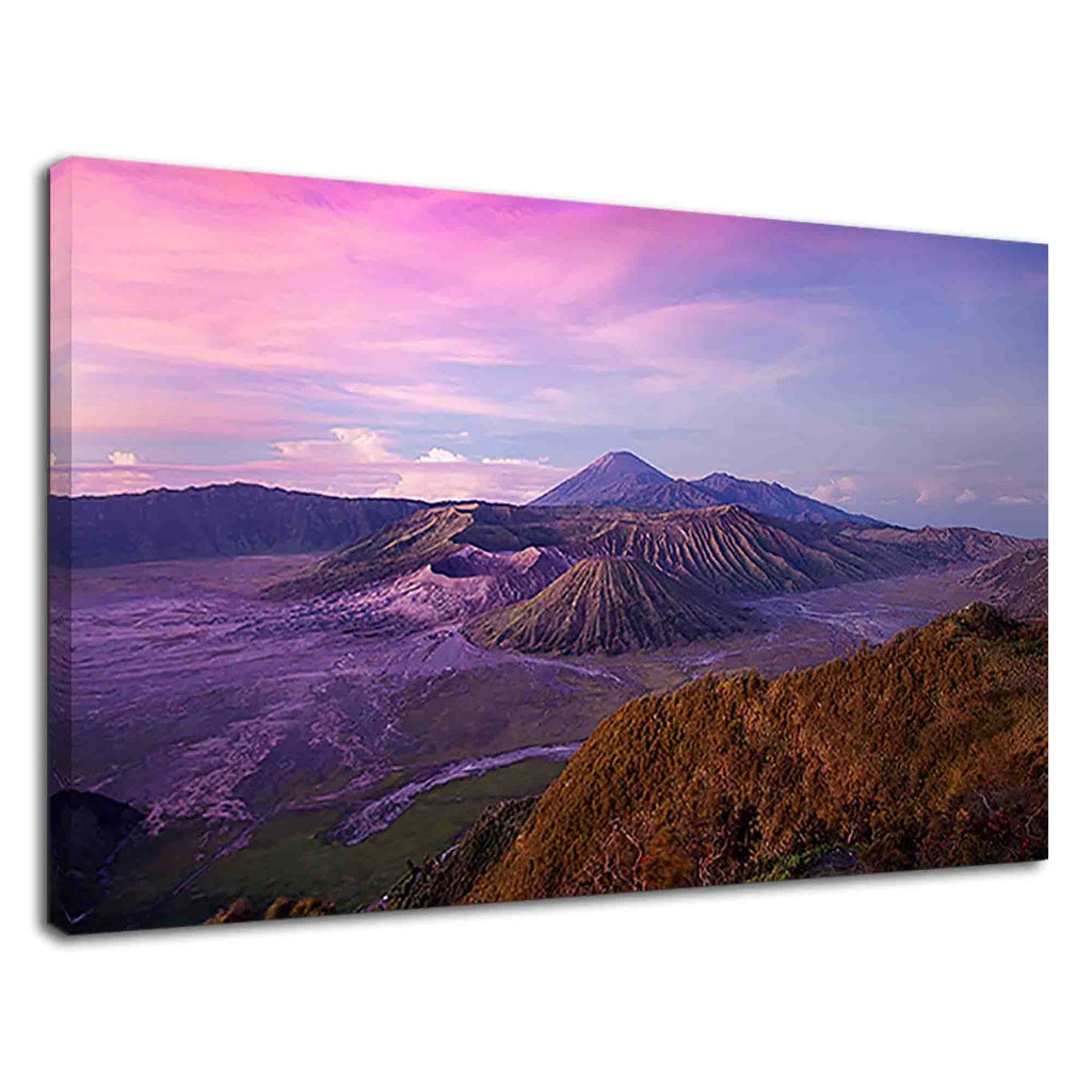 Beautiful View Of Semeru Volcano And Dusky Sky