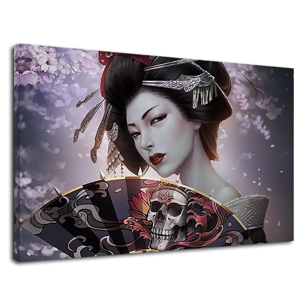 Beautiful Asian Chinese Geisha Gothic Floral Mist