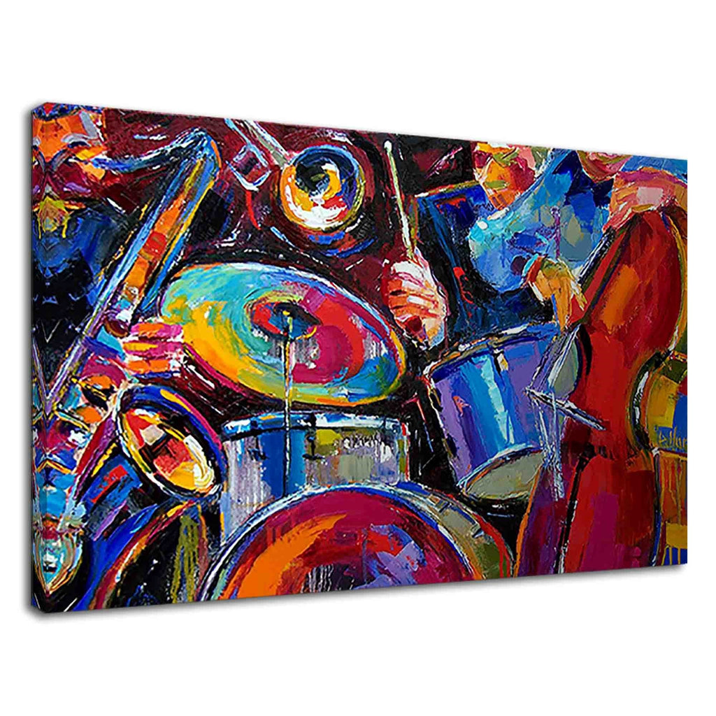 Jazz Musicians Abstract Jazz Art For Drawing Room