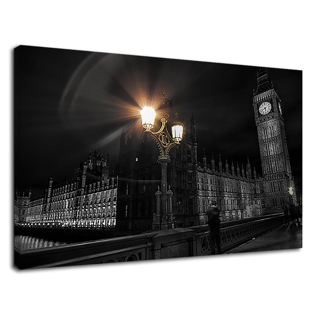 Black & White House Of Parliament Big Ben London