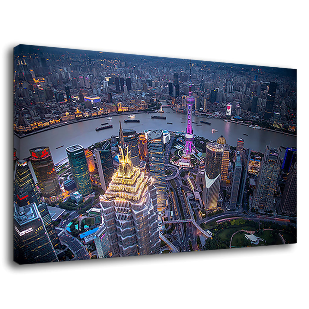 Hong Kong City Lights Cityscape City Scene