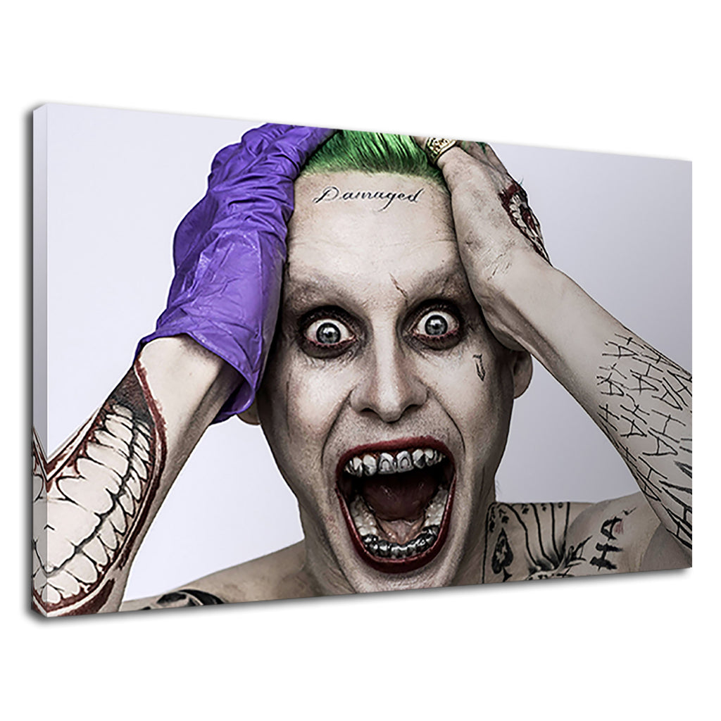 Suicide Squad Movie Poster Joker Damaged