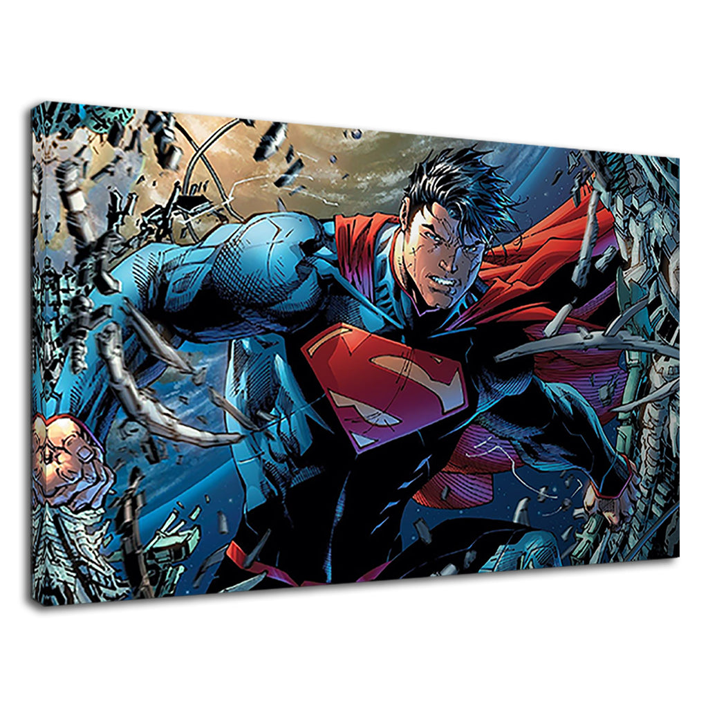 Superman Digital Illustration For Boys Bedroom