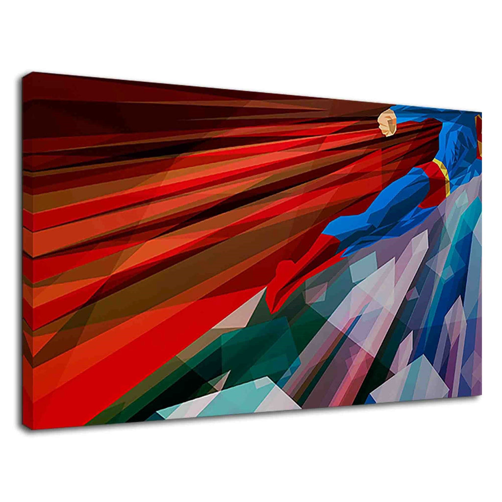 Amazing Superman Digital Abstract Illustration