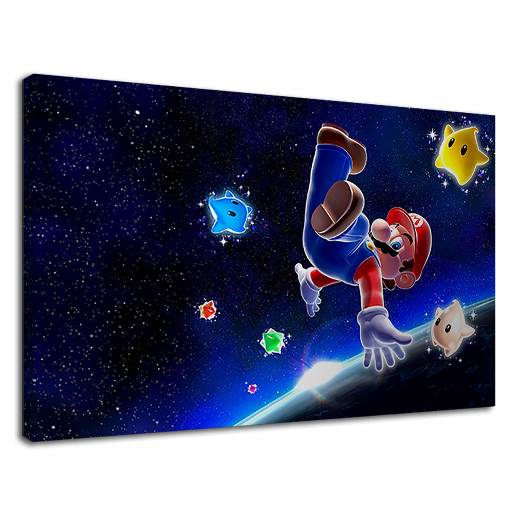 Super Mario Floating On Galaxy For Boys Bedroom