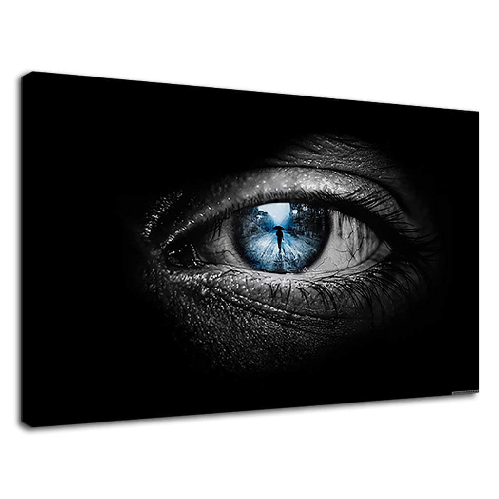 Coming Together Blue Eye Reflection True Love