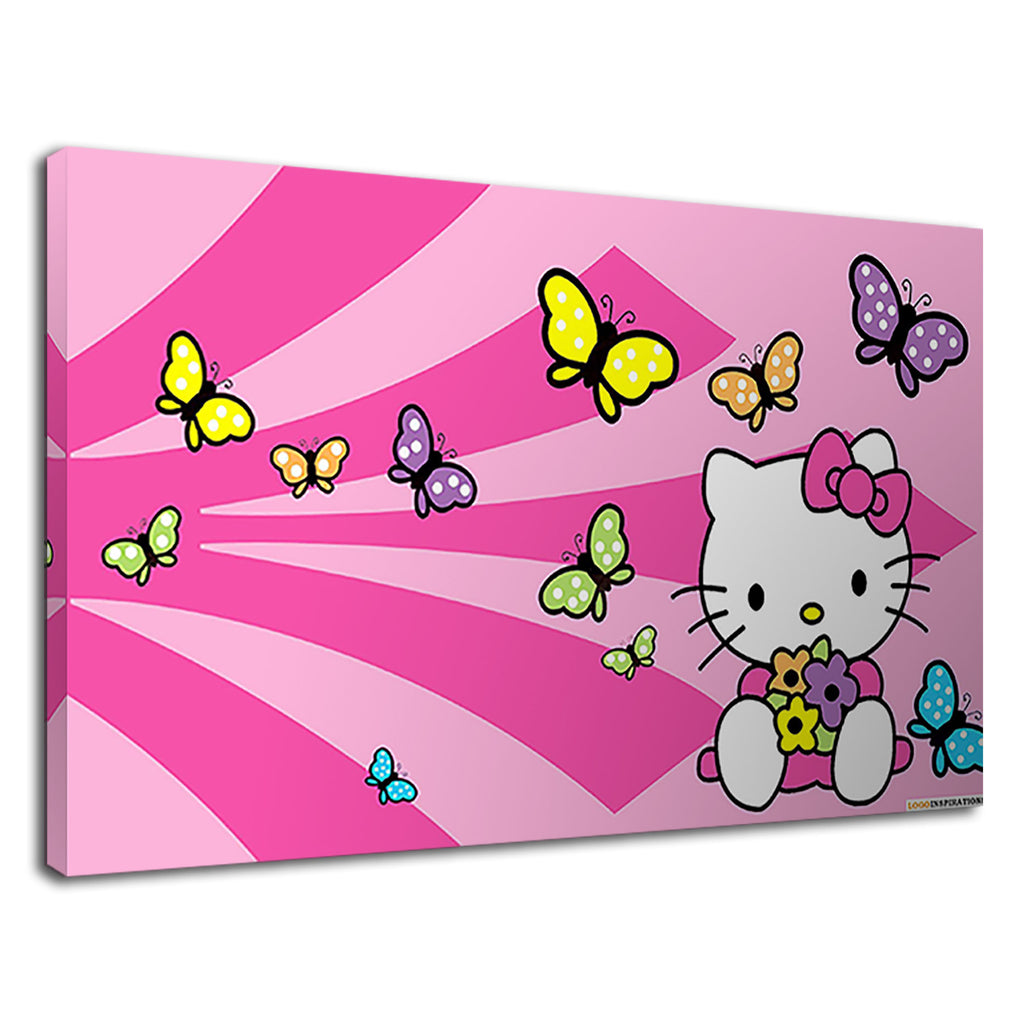 Hello Kitty Pink Butterfly Childrens Girls Bedroom