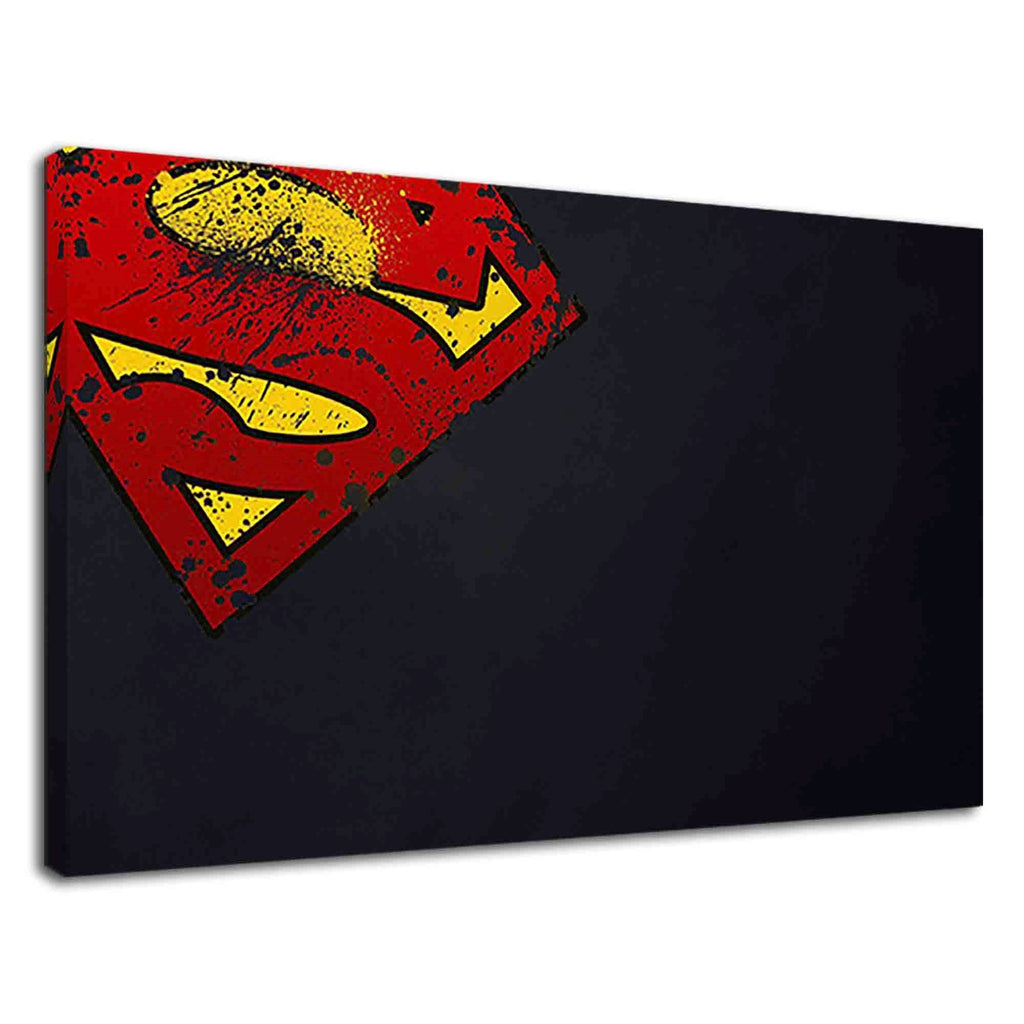 Superman Grunge Style Logo On Dark Navy Blue
