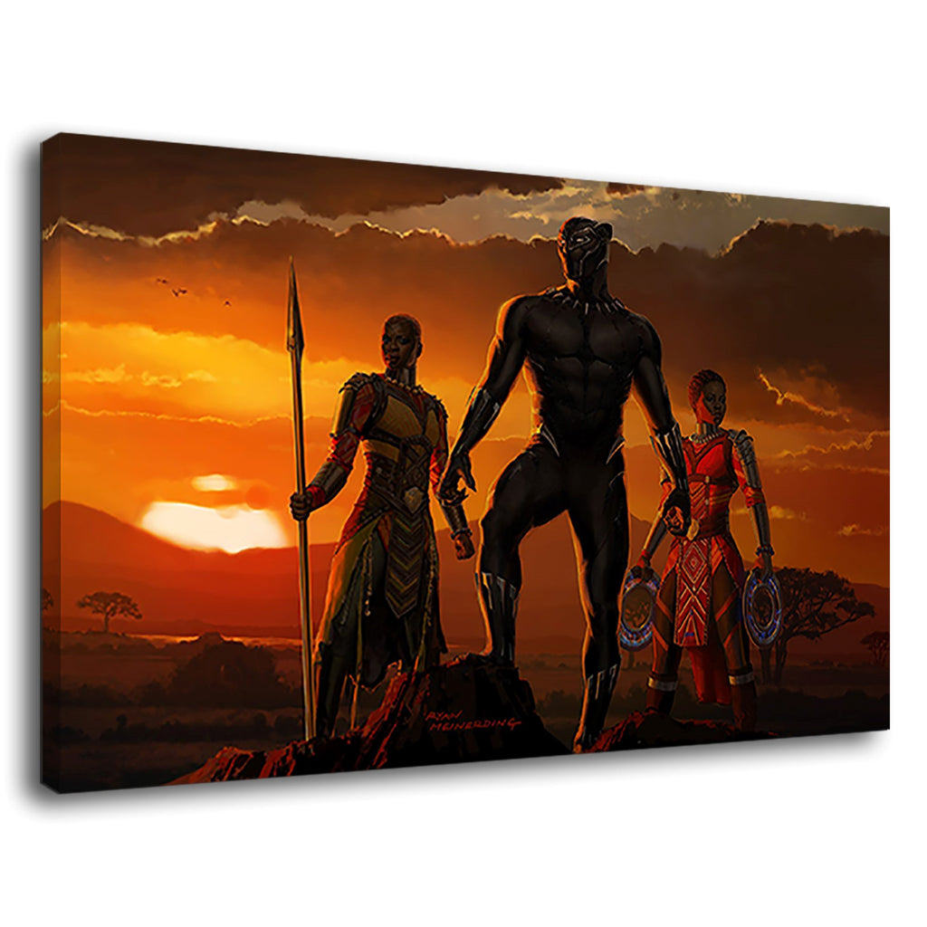 Black Panther Sunset Marvel Comics Avengers