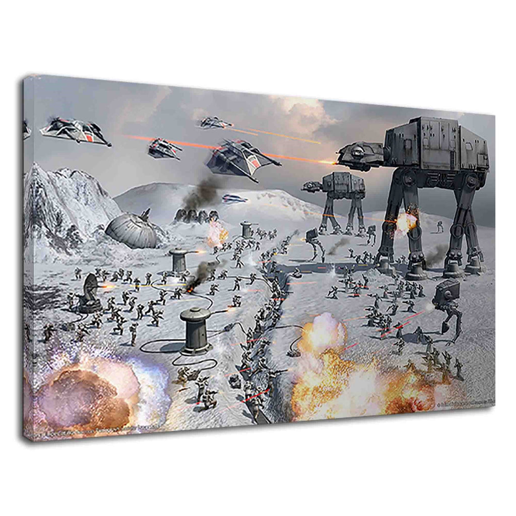 Star Wars The Battle Of Hoth Fantasy Art