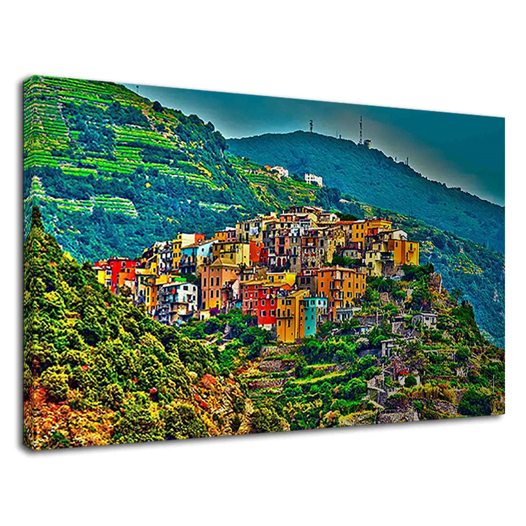 Colourful Buildings Of Corniglia At Cinque Terre
