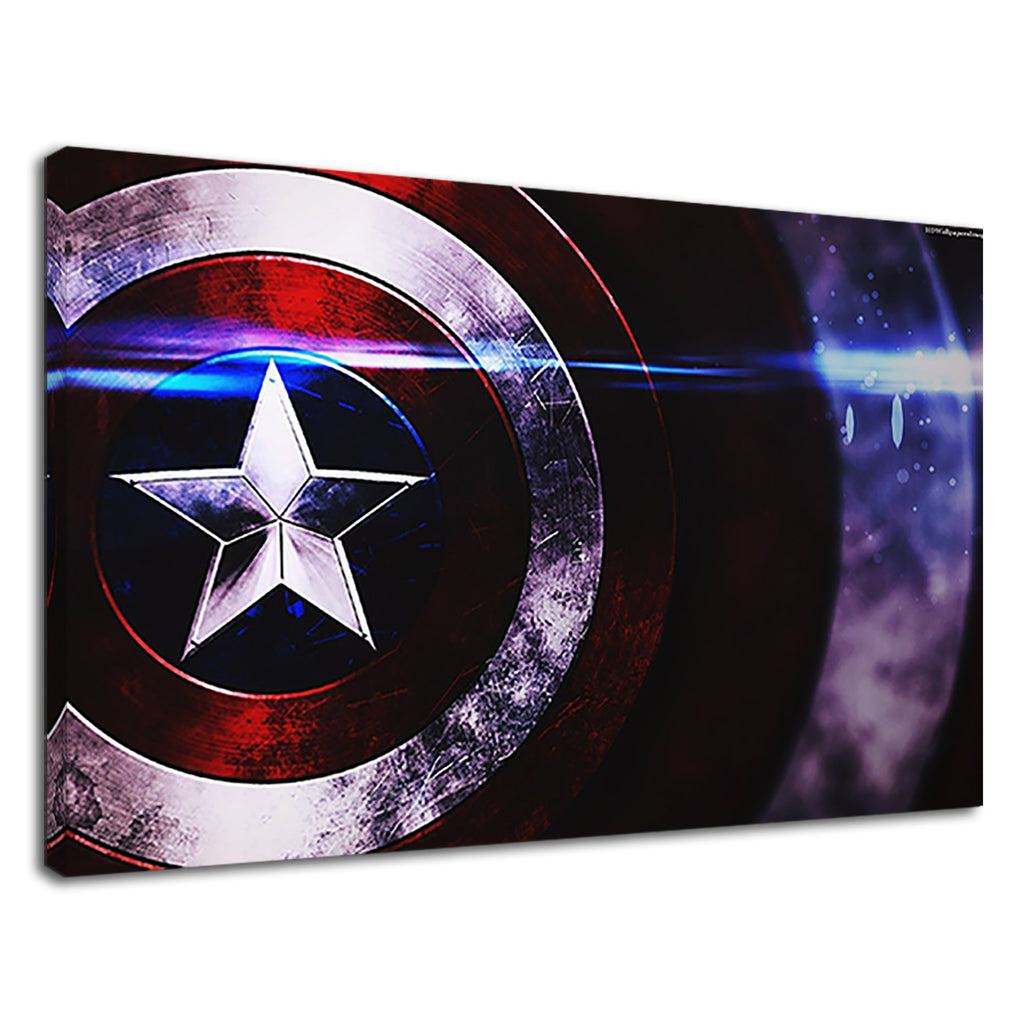 Captain America Glowing Shield Marvel Comics