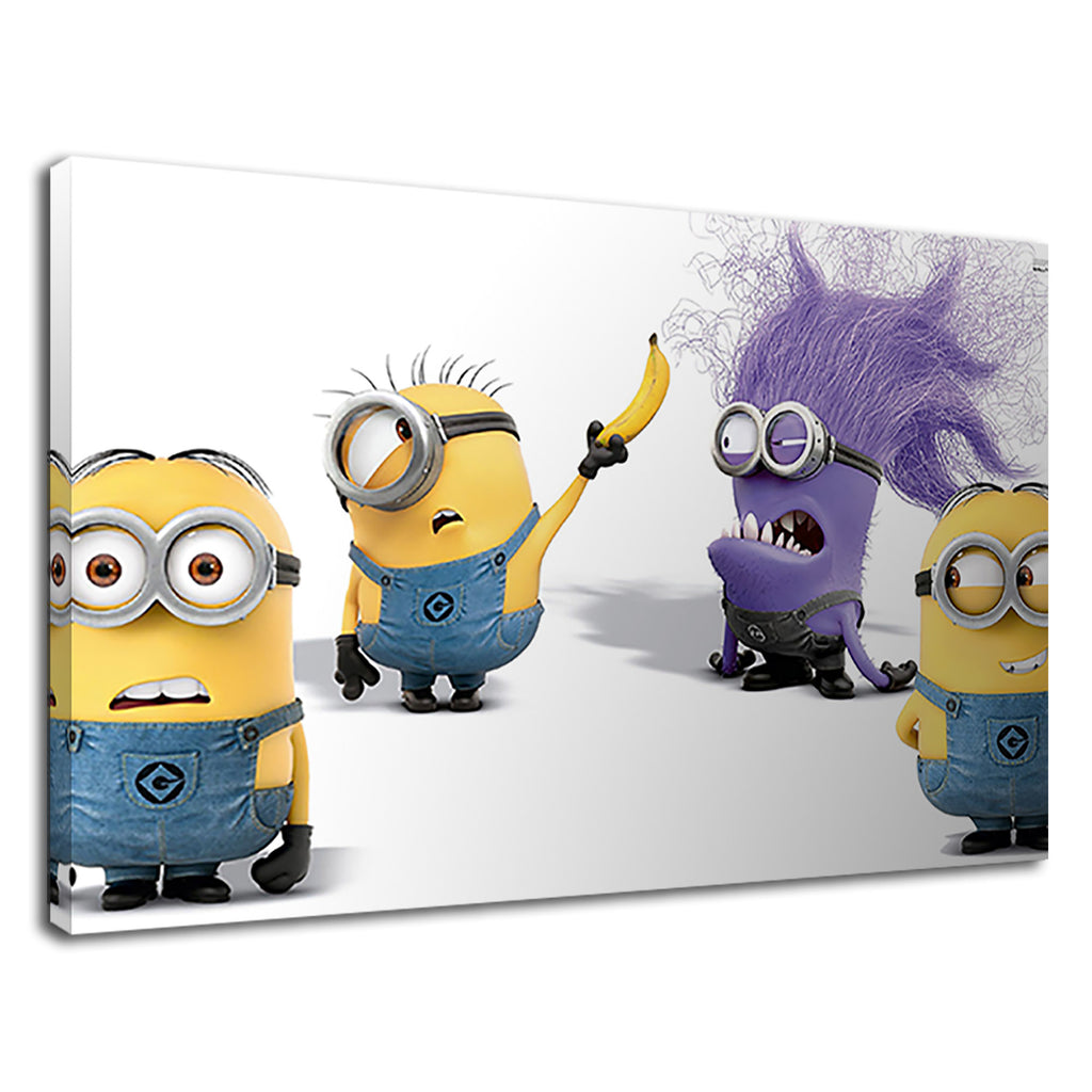 Minions With Yellow Banana For Kids Bedroom