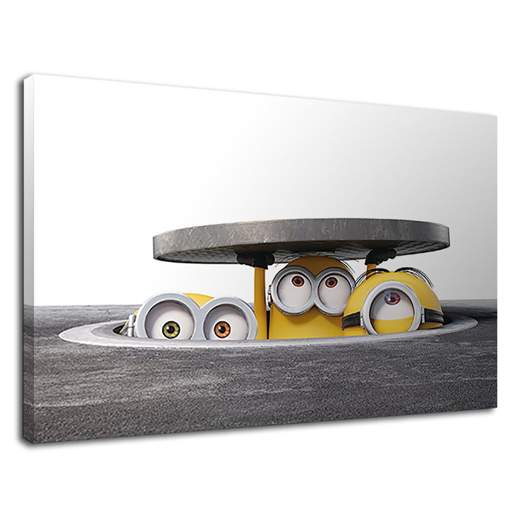 Three Minions In The Drain For Kids Bedroom