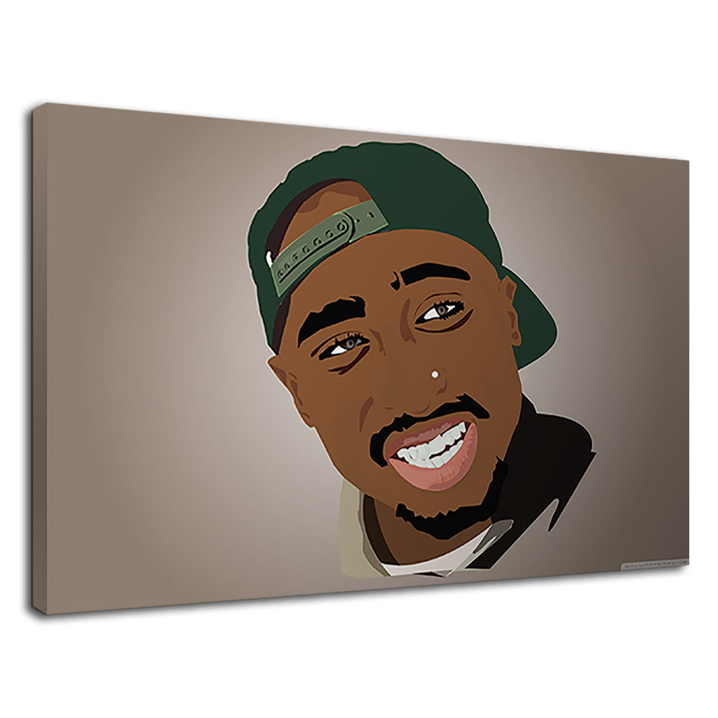 American Rapper Tupac Anime For Boys Bedroom
