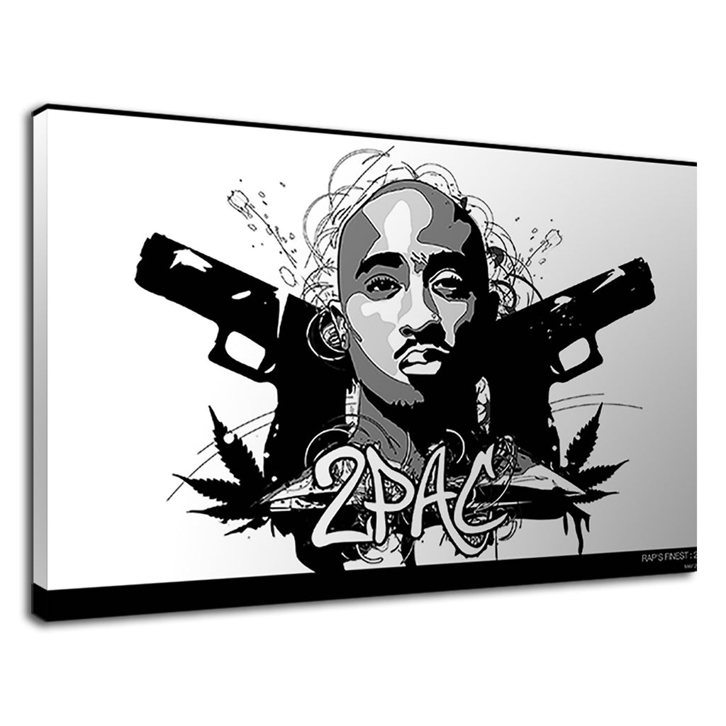 Popular American Singer Tupac Cartoon Art