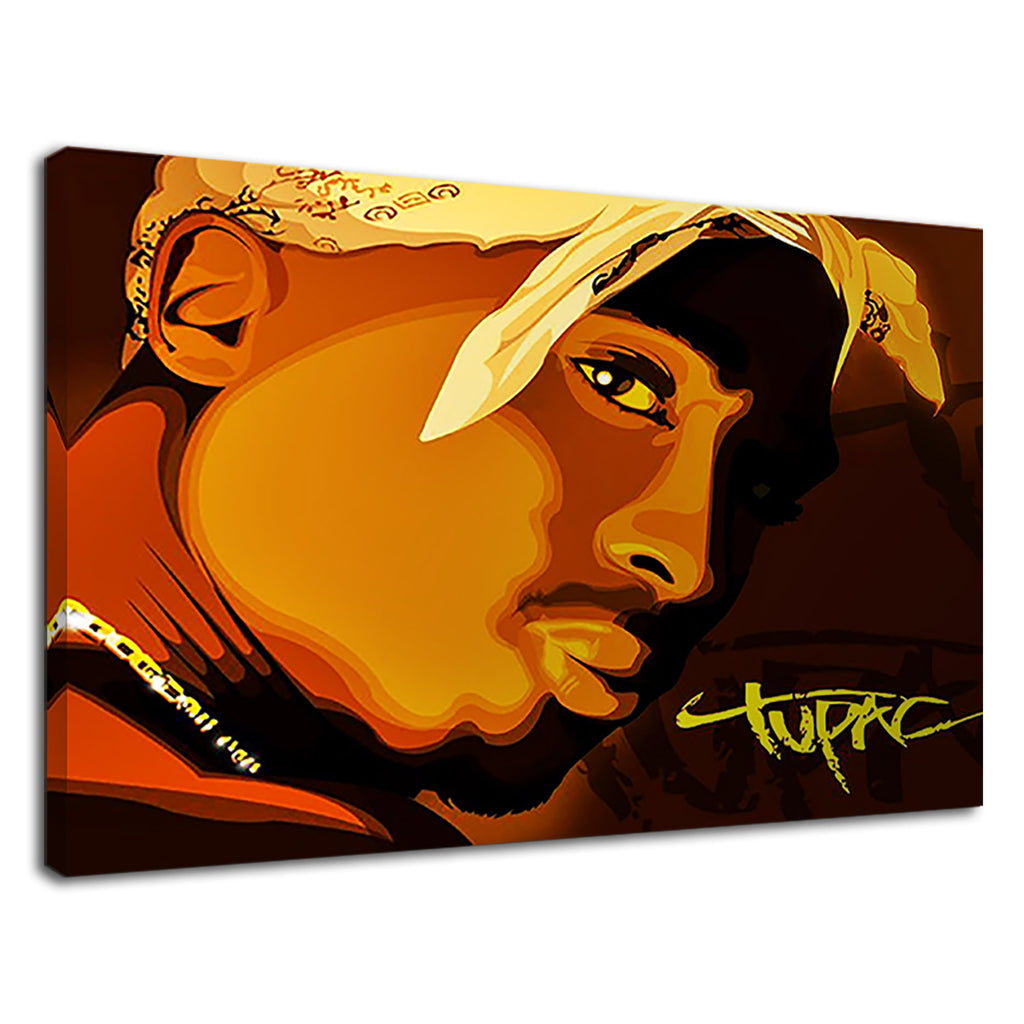 2 Pac Portrait Pop Art For Boys Bedroom
