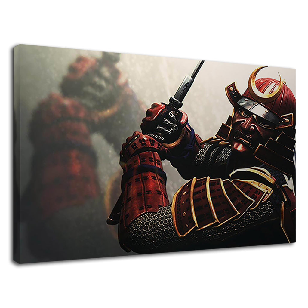 Samurai Masked Warrior Battle Scars Fantasy Asian
