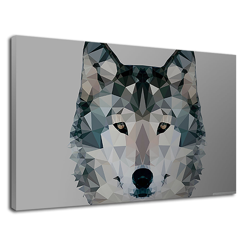 Low Polygonal Artistic Wolf Modern Home Animal