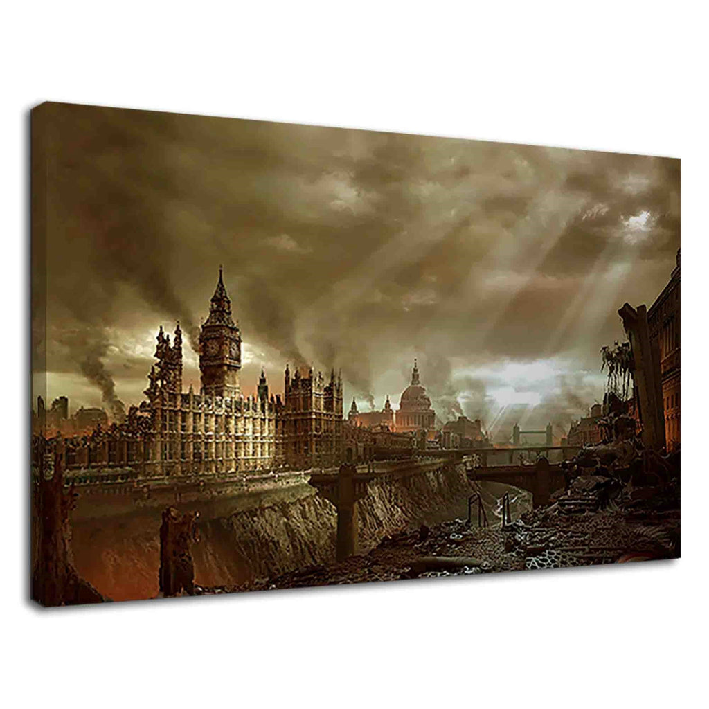 Post Apocalyptic London City Fantasy Artwork