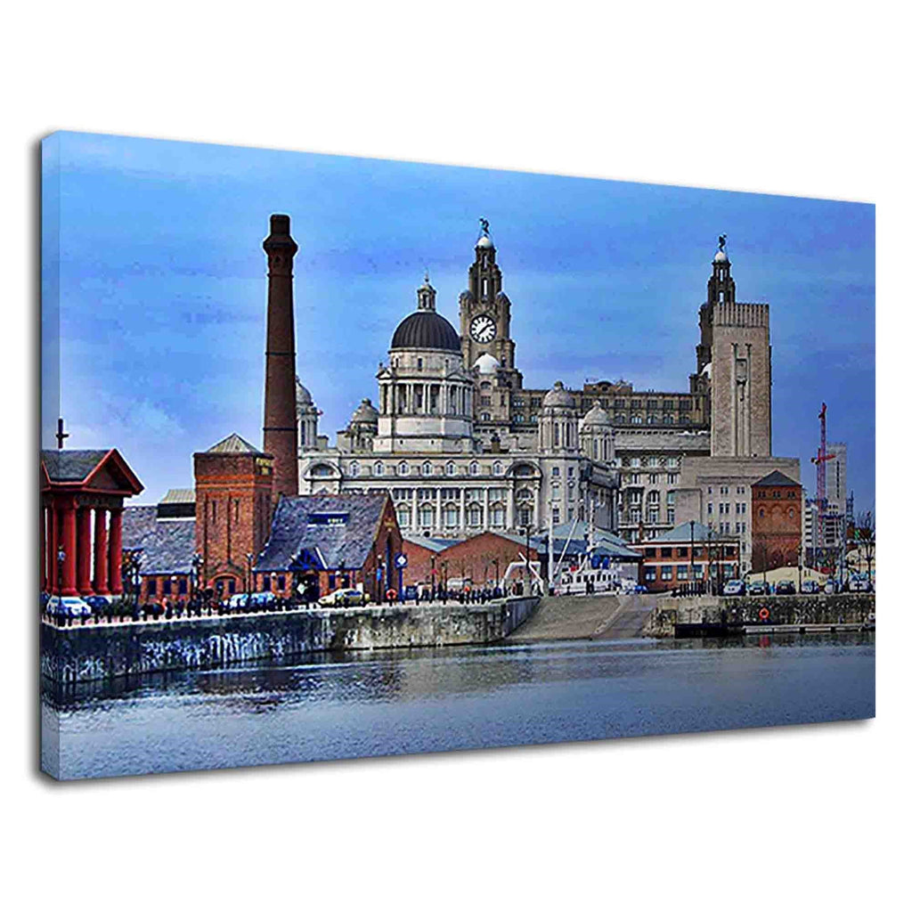 Liver Building View From Albert Dock In Liverpool