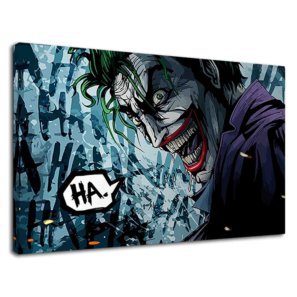 Creepy Smiling Joker Digital Art For Boys Bedroom
