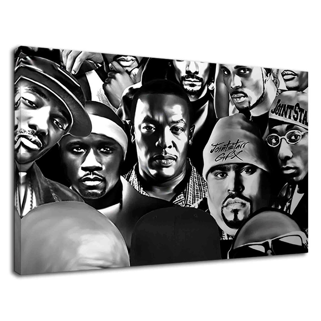 Legends Of Hip Hop Music In Black And White