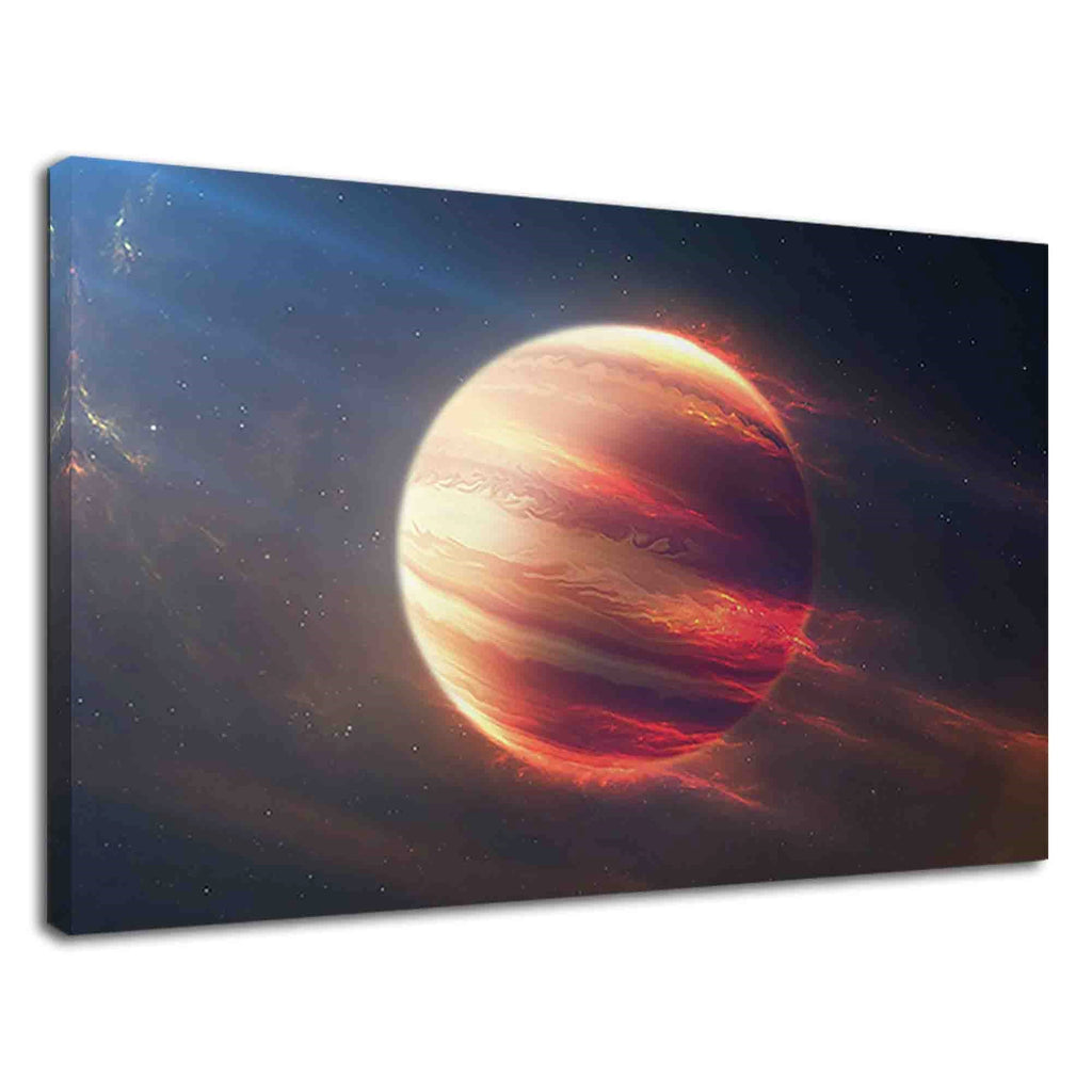 Fiery Jupiter Planets Atmosphere Conceptual Art