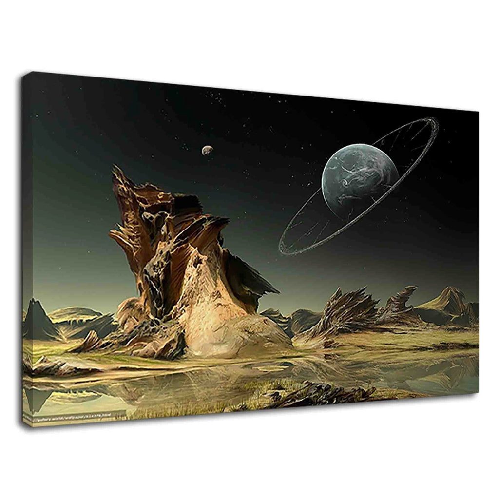 Fantasy Alien Planets Digital Art For Drawing Room