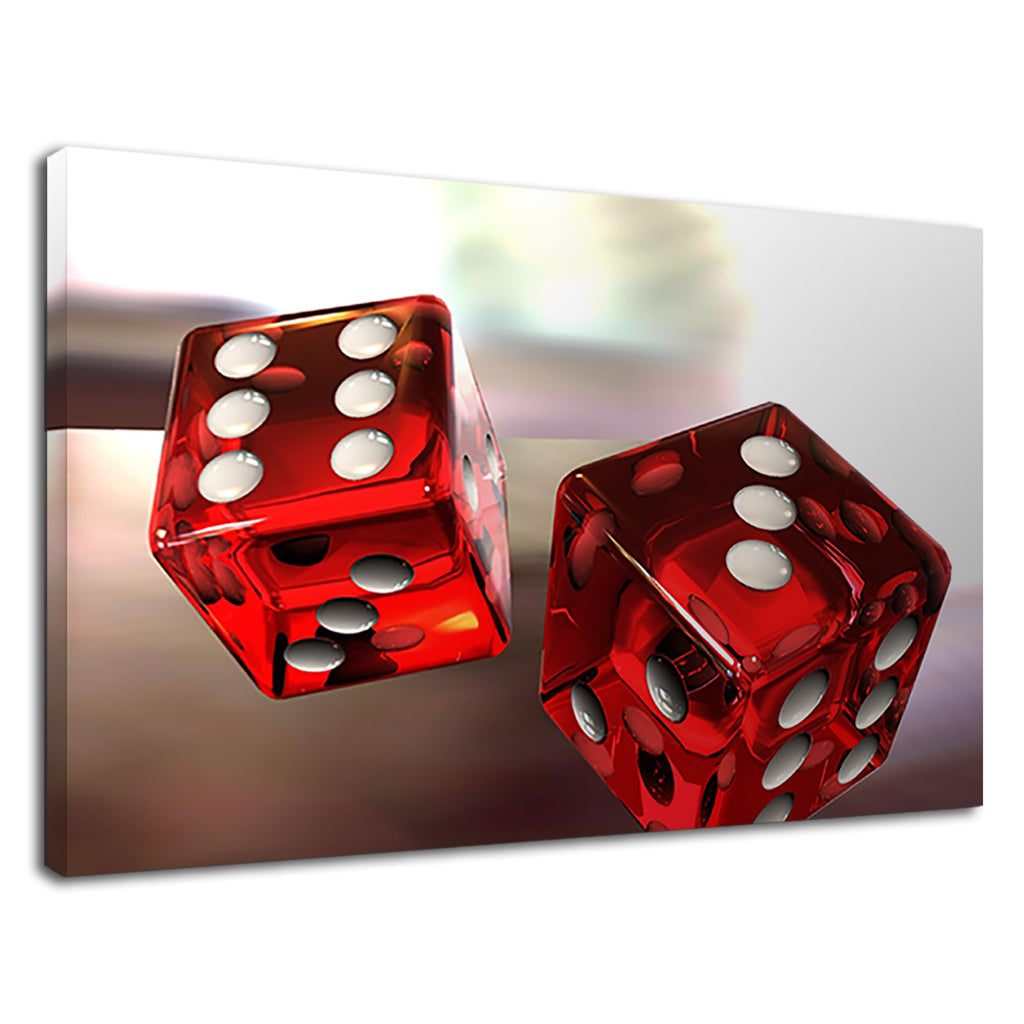 Red And White Casino Dice Las Vegas Casino