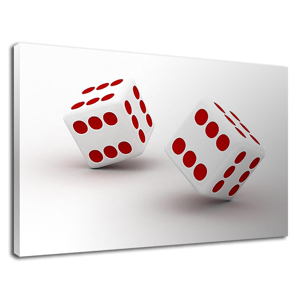 Red And White Casino Dice Las Vegas Strip