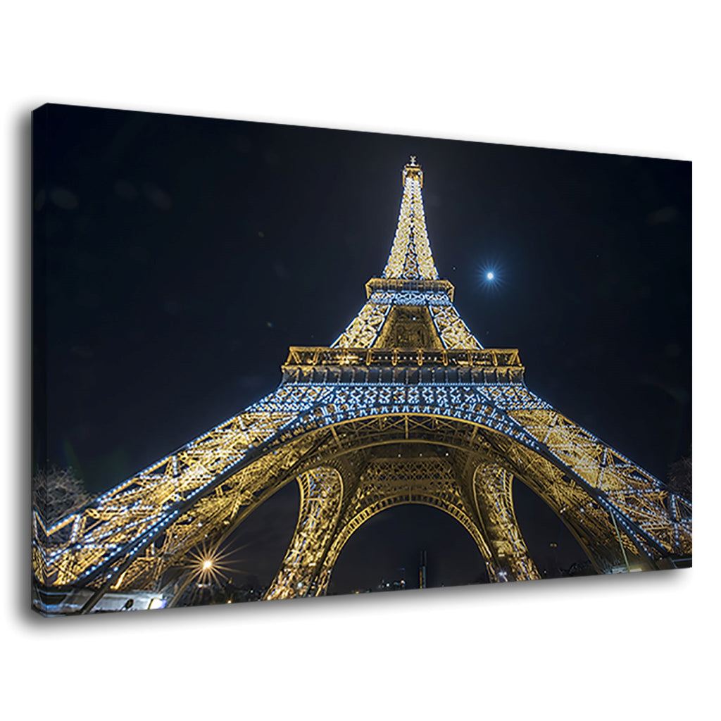 Eiffel Tower Night Lights Paris France City French