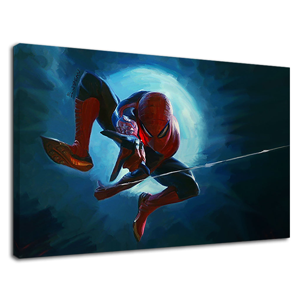 Spiderman Oil Painting Hybrid Marvel Boys Bedroom